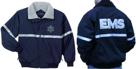 Emt Ems Reflective Jacket Embroidered Front Back