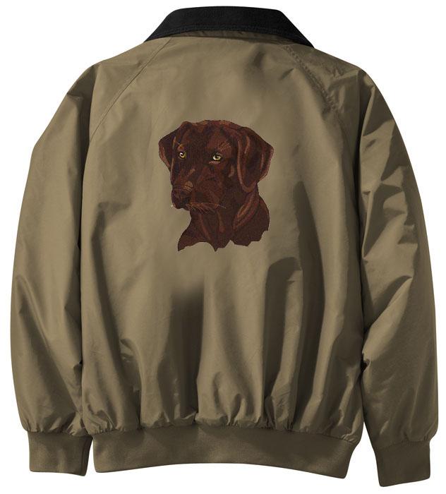 7e9e8904ff42 Chocolate Labrador Retriever Personalized Jacket
