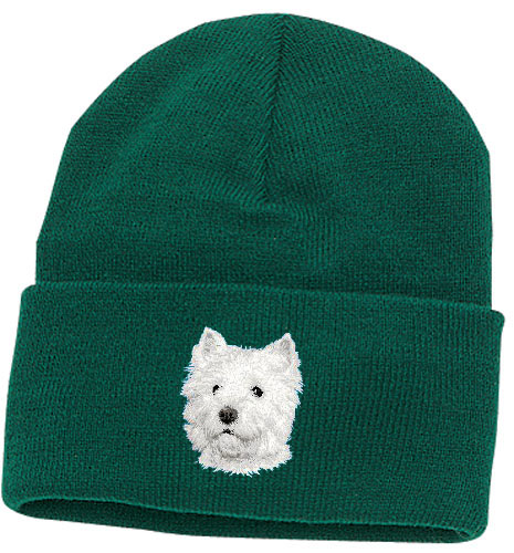 51dd9754b12 Personalized West Highland White Terrier Knit Cap