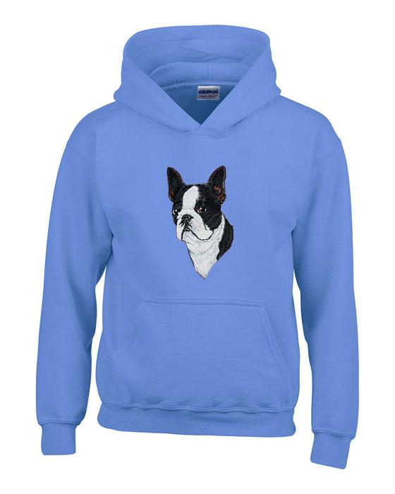 6021d312600 Personalized Boston Terrier Hooded Sweatshirt