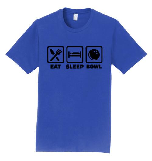 I AM Bowling T-Shirt - Eat Sleep Bowl Black Logo - 4 Colors