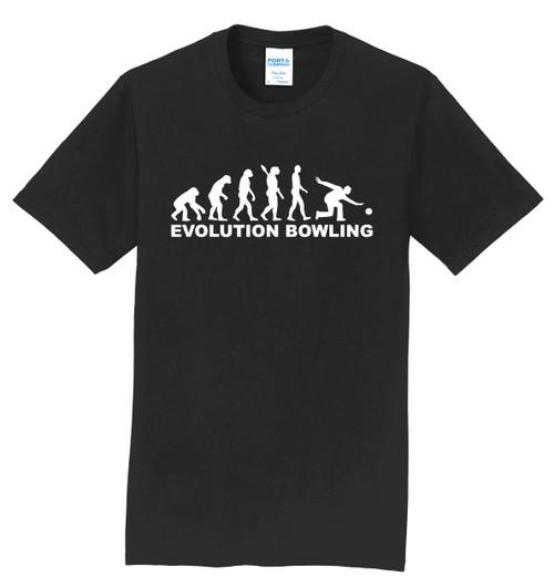 I AM Bowling T-Shirt - Bowling Evolution White Logo - 5 Colors