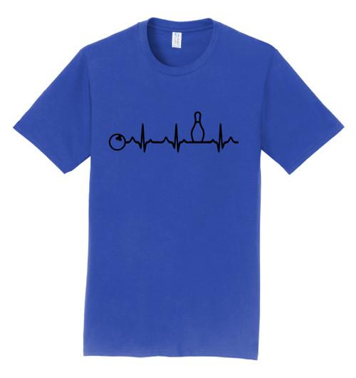 I AM Bowling T-Shirt - Bowling Heartbeat Black Logo - 4 Colors