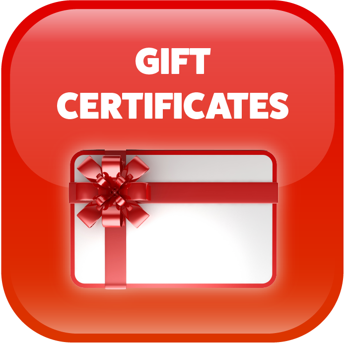 Get your gift certificates here!