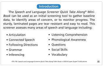 Speech - Page 1 - Fun Stuff Educational & Therapeutic Resources