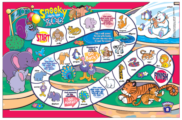 Snooky Snail's Fluency Game Boards