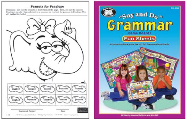 Say & Do Grammar Fun Sheets
