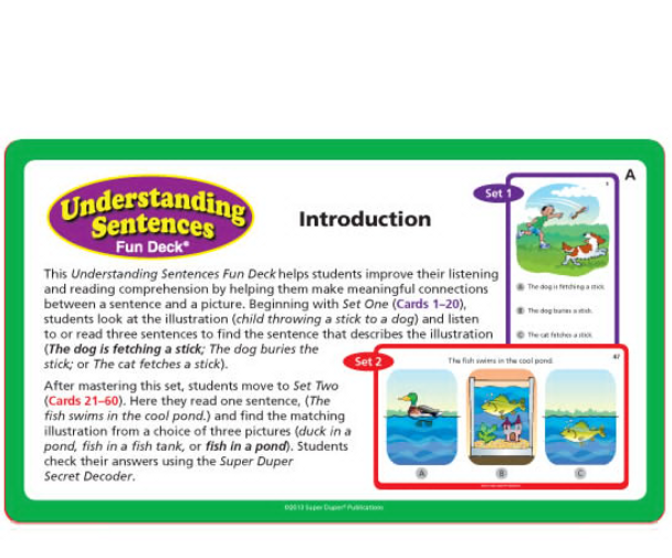 Understanding Sentences Fun Deck