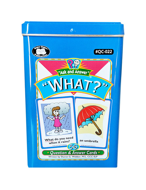 """Ask & Answer """"WH"""" Question Cards - What?"""