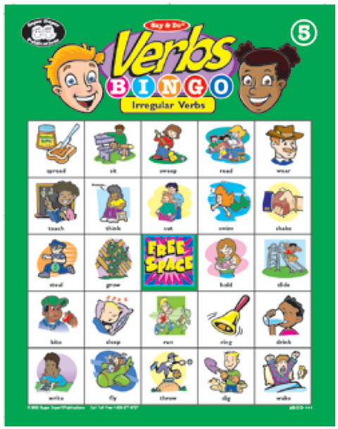 Say & Do Verbs Bingo