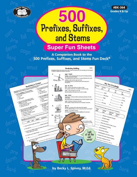 500 Prefixes Suffixes and Stems Fun Sheets