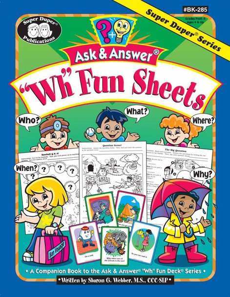 """Ask & Answer """"WH"""" Fun Sheets"""