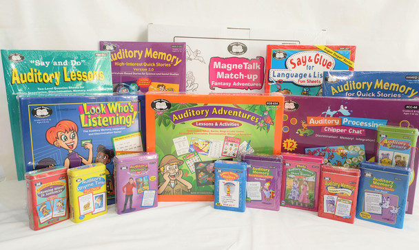 Auditory Processing and Auditory Memory Complete Therapy Pack