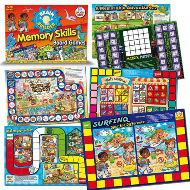 6 Memory Skills Board Games