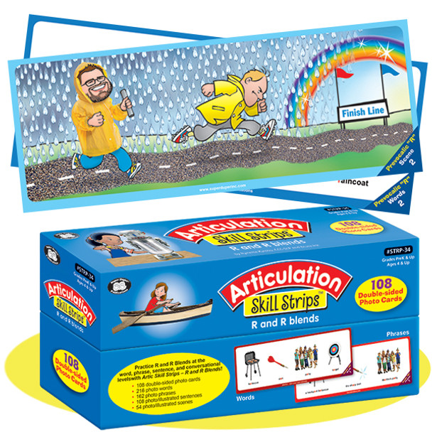 Articulation Skill Strips - R and R Blends