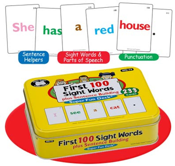 First 100 Sight Words plus Sentence Building