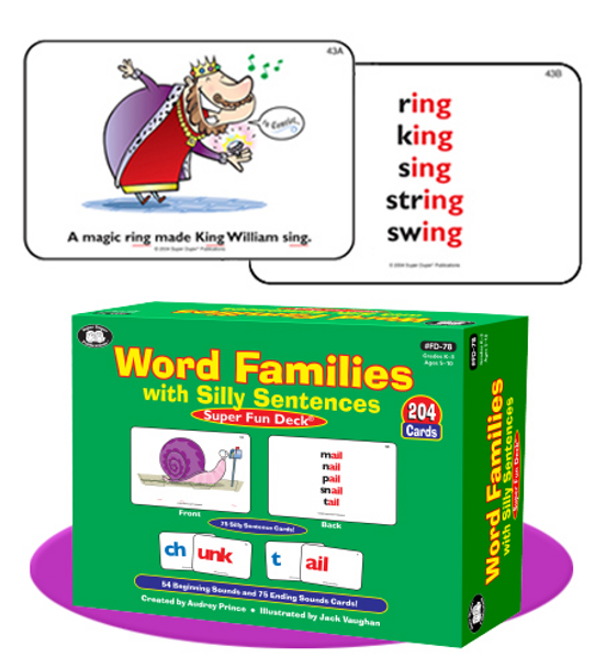 Word Families with Silly Sentences - Super Fun Deck