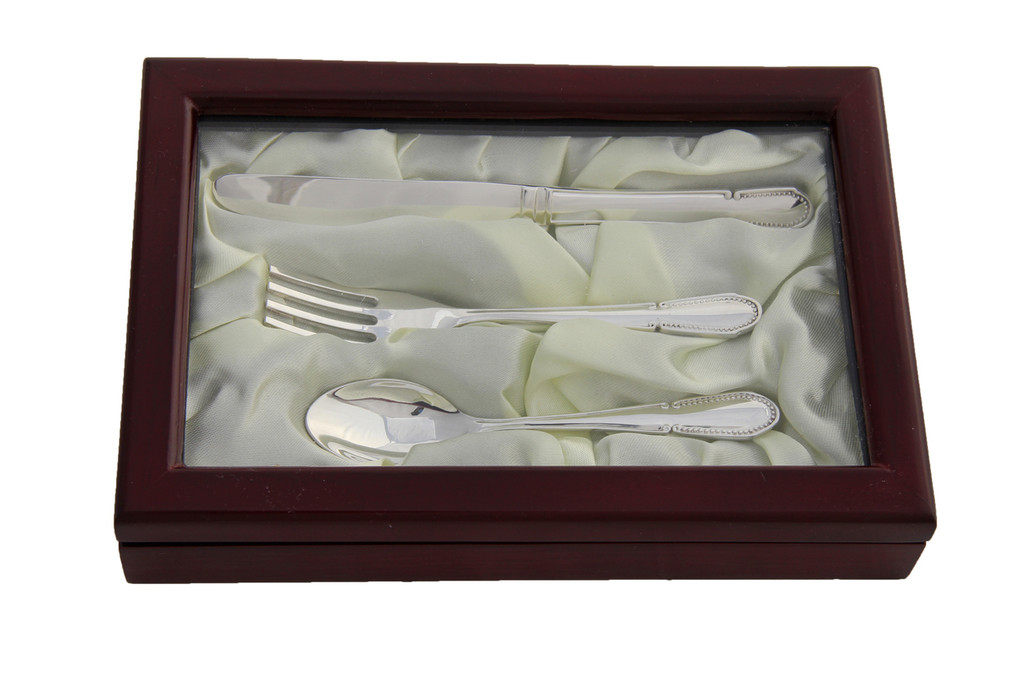 3 Piece Silver Plated Child,s Set