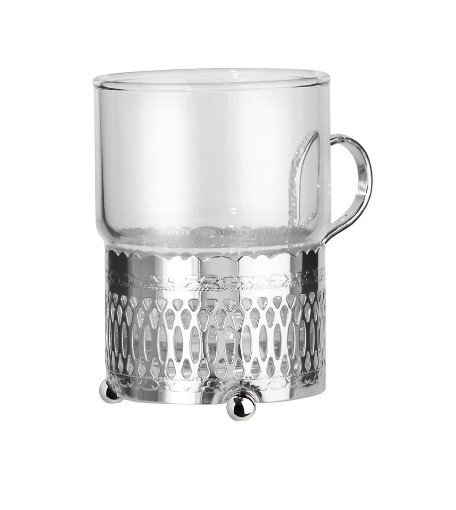 Single Tea Glass/Roman Strip