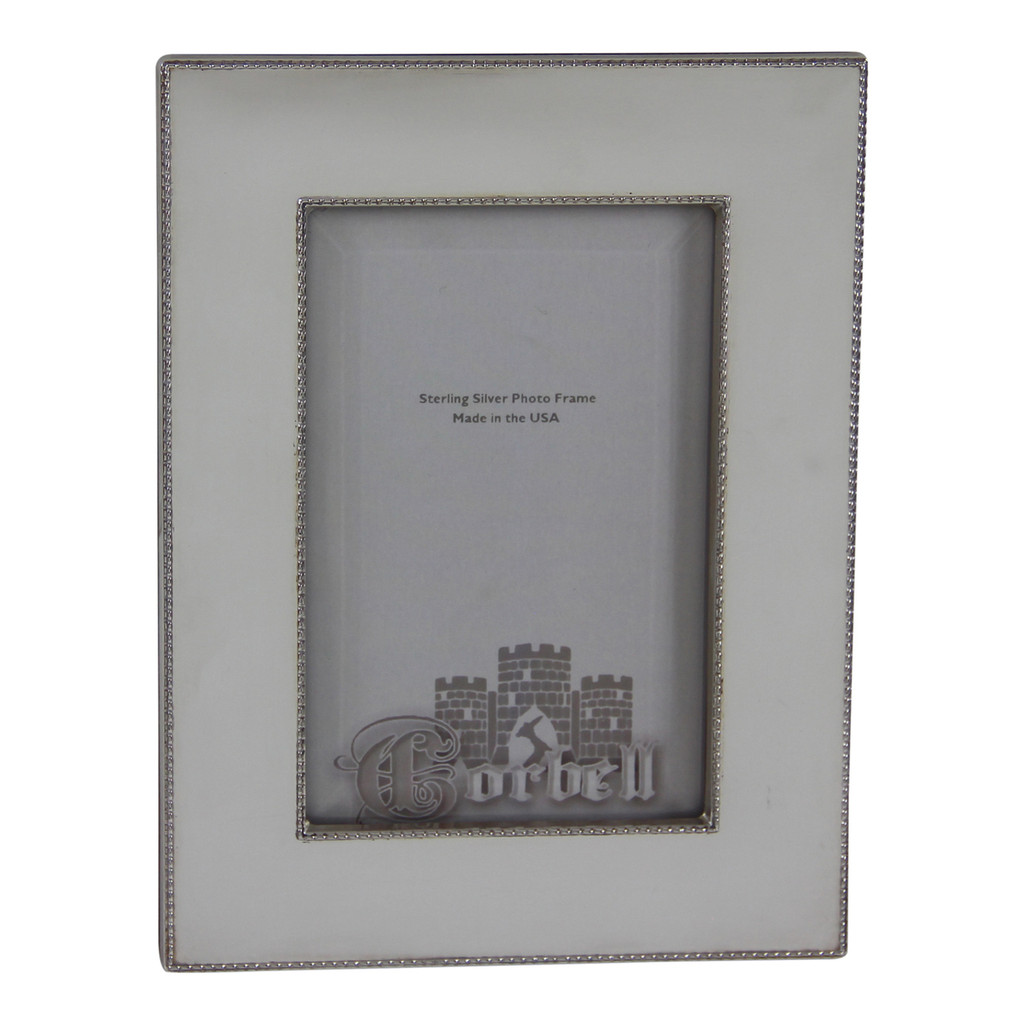 """Finest Quality Sterling Rope Edge Frame 4"""" x 6""""Photo w/ Wood Back"""