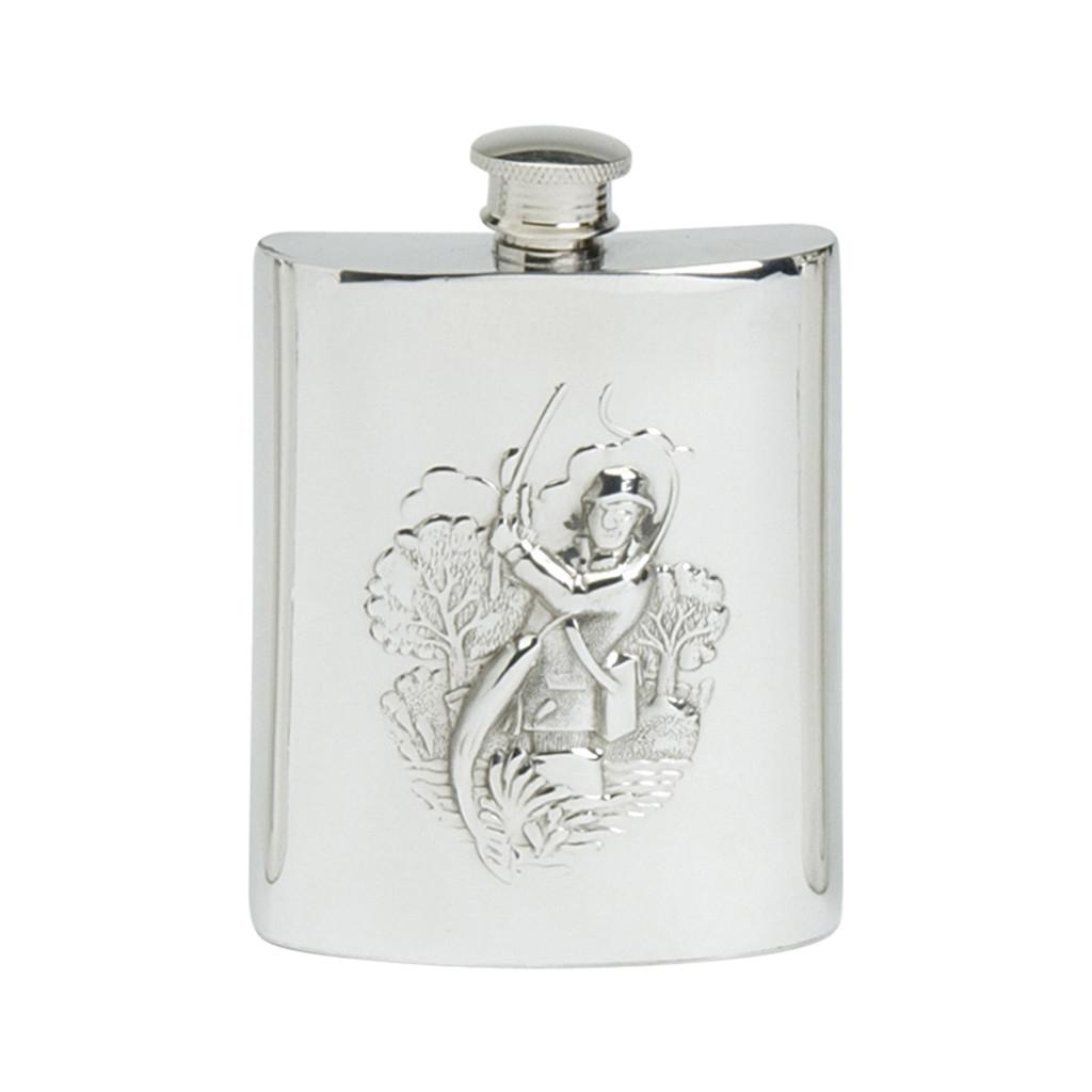 English Pewter Fly Fishing Flask 6oz