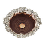 "Wine Coaster Vintage Design Silver Plate 7""w (C119)"