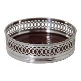 Wine Coaster - Ring Design English Silver Plate