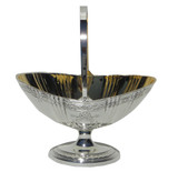 Bateman Style Silver Plate Candy Basket Gold Lined (C214)