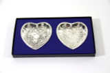 Pair Heart Dishes  Victorian Design