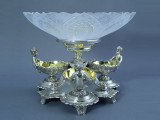 4-Pc Silver-Plated Epergne w/ Cherubs (C940)