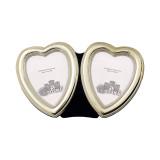 Frame Plain Heart Double Sterling Silver w/ Velvet Back