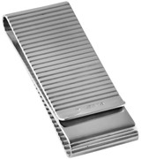 Double sided ribbed money clip