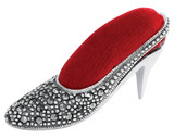 Marcasite set ladies' shoe pincushion