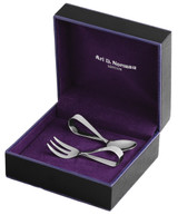 Elegant loop baby's first spoon and fork set