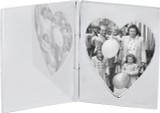 Single heart folding travel photo frame
