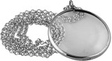 "Plain magnifying glass pendant on chain 813mm / 32"" long. Magnification x 2.5"
