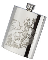 English Pewter Stag Flask 6oz