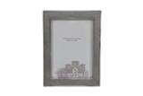 """Shagreen Design Sterling Frame 5"""" x 7"""" Wood Back"""