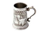 Stork Birth Record Child's Mug English Pewter (EB98002)