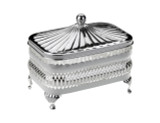 Oblong Butter Dish Silver Plate (Q0/4904)