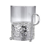 Single Tea Glass/Royal Strip English Silver Plate SKU 0/6322/7