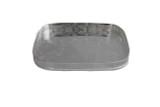 """English Silver-Plated Bar Pierced Gallery Tray 8"""" (C1646)"""
