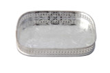 Silver-Plated Rectangular English Pierced Gallery Tray (C1645) OUT OF STOCK