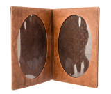 Leather  Double Photo Frame
