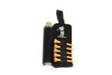 Black Leather Golf Flask with Wooden Tees