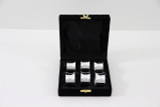 Set/6 Concave Silver Plated Napkin Rings in fitted Velvet Box (C3506)