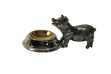 Salt Pig with Spoon Silver Plate