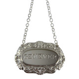 Decanter Label-GENEVER ,Shell & Scroll English Silver Plate (C503GEN)