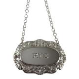 Decanter Label-RYE ,Shell & Scroll English Silver Plate (C503RYE)