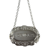Decanter Label-VERMOUTH,Shell & Scroll English Silver Plate (C503VER)